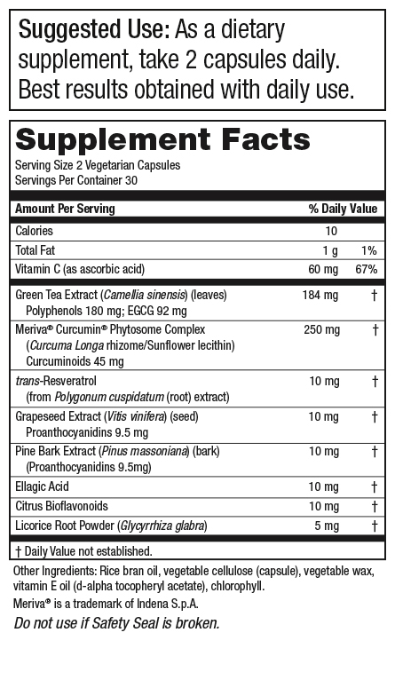 Green Tea CR™ (Green Tea + Curcumin + Resveratrol)